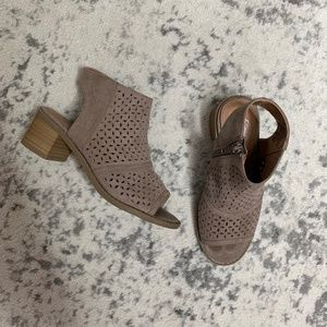 So Taupe Faux Suede Sandals